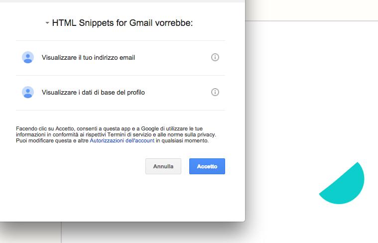 Autorizzazione Gmail