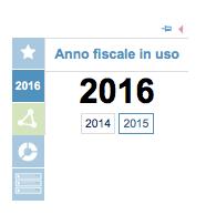 Anno fiscale in uso