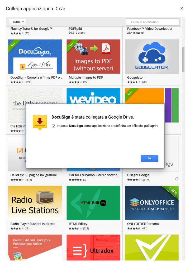 Docusign in Google Drive